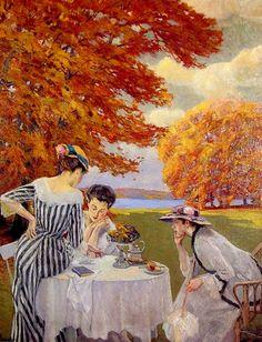 Tea in the Park by Edward Cucuel