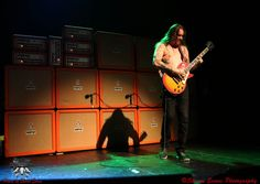 matt pike of Sleep/high on fire and his bedroom practice rig.