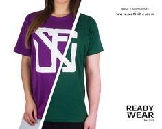 Nuevos colores de Camiseta básica unisex, malva y verde botella. Disponibles en:  www.sefinhe.com ¡Buen domingo!