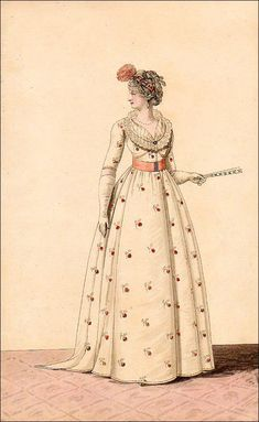 ealry regency- the gallery of fashion, 1799 -- this gown reminds me of the block printed linen dress in the Kyoto collection!