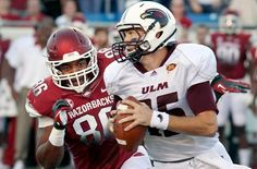 Upset Special    Quarterback Kolton Browning and Louisiana-Monroe stunned No. 8 Arkansas in overtime. Kolton threw for 410 yards and then used his feet scampering for a 16-yard touchdown on fourth down. Game of the day?  http://on.si.com/P4VhY1