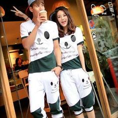Buy 'Evolu – Couple Set: Print T-Shirt   Cropped Sweatpants (One Set Only)' with Free International Shipping at YesStyle.com. Browse and shop for thousands of Asian fashion items from China and more!
