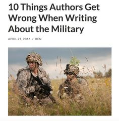 10 Things Authors Get Wrong When Writing About the Military Writing Genres, Writing Promps, English Writing Skills, Book Writing Tips, Writing Characters, Fiction Writing, Writing Quotes, Writing Resources, Writing Help