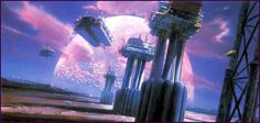 70s sci-fi art: Retro sci-fi landscapes. Artists, in order: Jim...