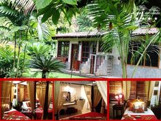 Set against the backdrop of the jungle, our largest bungalows are divided into two interconnecting junior suites making them ideal for family groups or friends. Each of the suites features a bedroom containing a queen bed and single bed (both with mosquito nets). Corcovado National Park, Luxury Accommodation, Bungalows, Tropical Garden, Queen Beds, Acre, Backdrops, Pergola, Outdoor Structures
