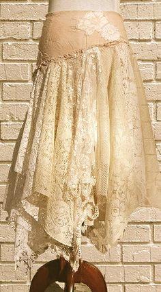 lace skirt Gypsy Style, Boho Gypsy, Bohemian Style, Hippie Boho, My Style, Indie Style, Boho Chic, Shabby Chic, Diy Fashion