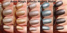 Avon Magic Effects Molten Metal Gold, Copper, Titanium, Blue Steel  and Graphite