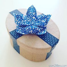 boite masking tape - fleur de lotus origami