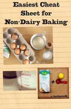 Substituting non-dairy beverages for dairy in cooking and baking is actually easier than you think! Use this as a guide to making anything non-dairy friendly.