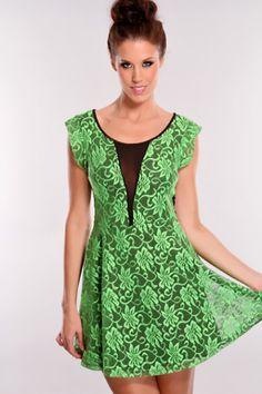 d7bdf44d4a Green Black Two Tone Dress   Sexy Clubwear