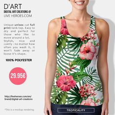 #tropical #tropic #jungle #plants #floral #flora #flowers #orchids #nature #environment #stylish #trendy #leaves #tanktop #unisex #liveheroes #liveheroesshop #digitalartcreations