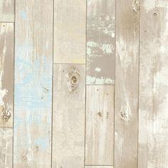 "Bath Bath Bath Volume IV Dean Distressed 33' x 20.5"" Wood 3D Embossed Panel Wallpaper"