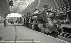 6010 King Charles l at Paddington's Platform 9 following arrival with the up 'Cambrian Coast Express' on 16 August 1961.