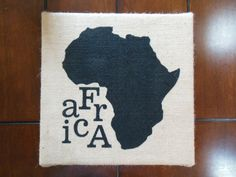 Items similar to Africa Painting on Burlap Canvas Art on Etsy Burlap Canvas Art, Africa Painting, Diy And Crafts, Arts And Crafts, African Home Decor, Creative Cards, African Art, Ethiopia, Classroom Decor