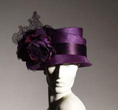 Philip Treacy purple hat