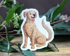 Golden Retriever Dog on Weatherproof Glossy Sticker Paper Height: Inches; Width: 2 Inches Stickers are sold individually or in packs of 3 and 10 Product specs: Dogs Golden Retriever, Retriever Dog, Handmade Items, Handmade Gifts, Glossier Stickers, Sticker Paper, Etsy Seller, Lion Sculpture, Creative