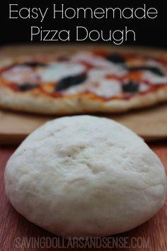 Super easy Homemade Pizza Dough!!