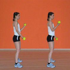 Curl alternato con manubri  Fitness in casa: gli esercizi per braccia e spalle - Rimettersi in forma | Donna Moderna