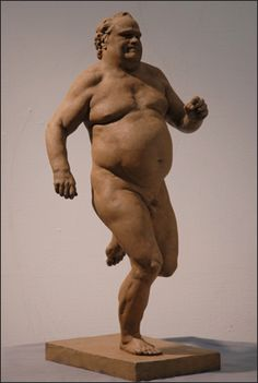 Running Man. My friend Rick Weaver sculpted a whole series of these joyful, obese people.