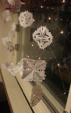 Luukku 6: Lumihiutaleita paperista