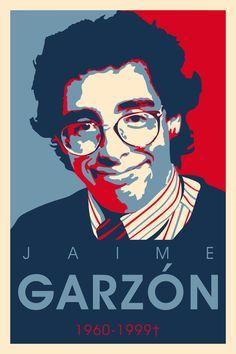Poster en honor a Jaime Garzón 1960-1999 Arte Pop, Anarchy, Wall Design, Tatoos, Red And Blue, Pop Art, Digital Art, Harry Potter, Gallery Wall