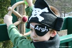 Sew Can Do: Ahoy!! Thar Be A Pint Sized Pirate!
