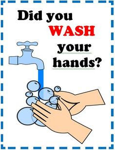I wanted a simple poster to remind students to wash hands. (Posting a sign makes…