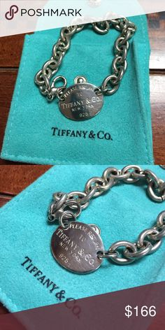 Authentic Tiffany & Co. Sterling Silver Bracelet Authentic Tiffany & Co. Sterling Silver Bracelet comes with jewelry bag... bundling not included with this bracelet. Tiffany & Co. Jewelry Bracelets