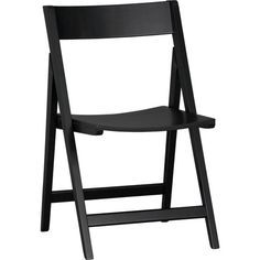 Spare Black Folding Chair in Dining Chairs | Crate and Barrel