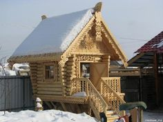 Hut on chicken legs Baba-Yaga. Избушка на курьих ножках  Бабы-Яги.