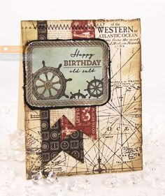 Stamp Talk with Tosh using Ocean Bound stamps from http://www.waltzingmousestamps.com/