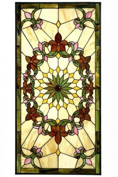 Solstice Large Rectangle Tiffany-Style Art Glass - Art Glass Windows - Home Decor