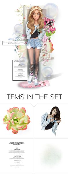 """""""● FLOWERS ON HER MIND"""" by paty ❤ liked on Polyvore featuring art"""