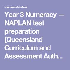 Year 3 Numeracy — NAPLAN test preparation [Queensland Curriculum and Assessment Authority]