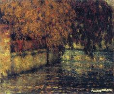 "Artwork ""Autumn Nutmeg"" Favorites ~ The Wall, Autumn Artwork by Henri Le Sidaner"