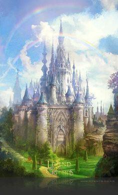 New Ideas Fantasy Art Inspiration Palaces Fantasy Magic, Fantasy City, World Of Fantasy, Fantasy Castle, Fantasy Places, Fantasy Artwork, Fantasy Art Landscapes, Fantasy Landscape, Landscape Art