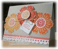 Blossom punch & Mixed Bunch with Petit Pairs for the sentiment. Great color combo plus card size tip.