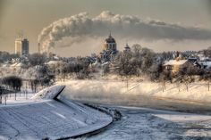 """""""Vilnius in Winter. by Laimonas Ciūnys. Vilnius is the capital of Lithuania Winter Photography, Landscape Photography, Stunning Photography, Art Photography, Places Around The World, Around The Worlds, Web Design, Winter Pictures, Winter Images"""