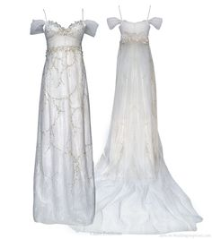 Used Wedding Dresses - Claire Pettibone - Size 12 - Jasmine Claire Pettibone, Blue Wedding Dresses, Bridesmaid Dresses, Gown Wedding, Lace Wedding, Princess Jasmine Wedding, Princess Dress Up, Moon Princess, Cherry Blossom Wedding