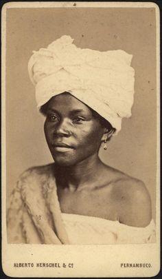 Portrait of an Afro-Brazilian woman, Pernambuco, Brazil, by Alberto Herschel, ca. 1869.