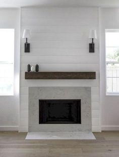 30 Interesting Farmhouse Fireplace Design Ideas For Living Room. If you are looking for Farmhouse Fireplace Design Ideas For Living Room, You come to the right place. Farmhouse Fireplace Mantels, Fireplace Redo, Shiplap Fireplace, Rustic Fireplaces, Fireplace Hearth, Marble Fireplaces, Fireplace Remodel, Fireplace Surrounds, Fireplace Design