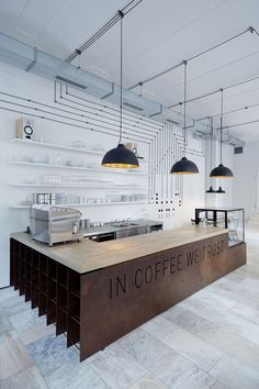 The Proti Proudu Bistro is Inspired by the Idea of Connection and Coffee #modern…