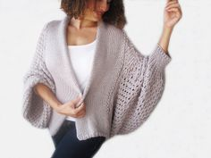 This cardigan is hand knit with special pattern. It is made with wool and acrylic yarn. It is light weight. It's very soft, warm and cozy. I can also make this cardigan in any colour with any kind of yarns. Cardigan En Maille, Knit Cardigan, Winter Sale, Knit Fashion, Knit Patterns, Crochet Clothes, Cable Knit, Lana, Hand Knitting