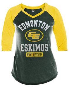 Edmonton Eskimos Women s Rival Raglan Top 6fddcf2fb