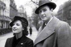 Errol Flynn with his 1st wife Lili Damita