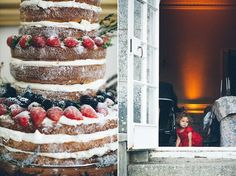 Stacked sponge wedding cake with berries..... UM REMINDS ME OF YOUR FAVORITE CAKE MY MOM MAKES CARISSA!!!!!!!!!