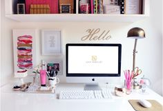 26 Ideas Home Office White Gold Desk Organization For 2019 Office Cubicle, Office Workspace, Small Workspace, Cubbies, Desk Inspiration, Bedroom Desk, Lego Bedroom, Childs Bedroom, Bedroom Girls
