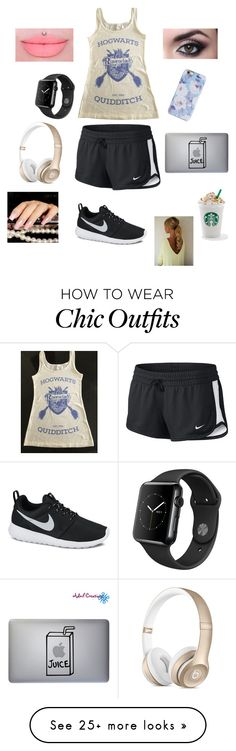 """""""Sleepover with @shaylen-newbill """" by hopemarlee on Polyvore featuring NIKE and Isaac Mizrahi"""