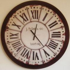 Reloj Artesanal de Pared , $185 en https://ofeliafeliz.com.ar