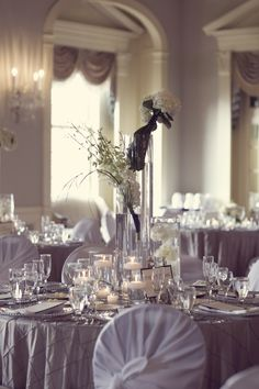Tall #Wedding #Centerpieces